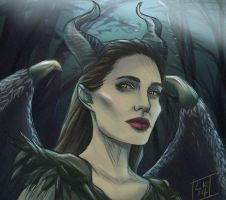 Maleficent by LornaKelleherArt