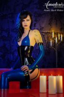 Black Widow Blue Latex Lingerie by AmatorisLatexCouture