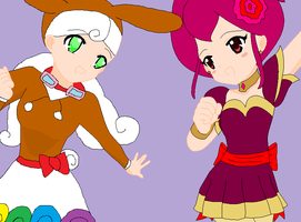 AT for Jlj16 - Bunny Chocola and Bala Twirlybelle by dannichangirl