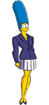 Marge Simpson as Lois Lane by darthraner83