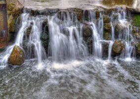 Waterfall,Edward Gardens by Albenika