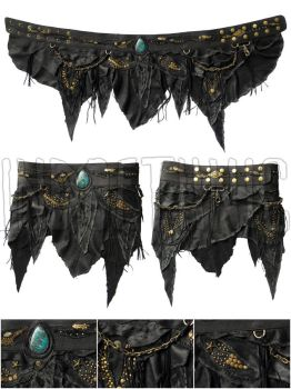 Leather Skirt by BrendaWilson01