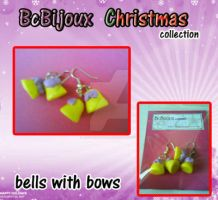 BcBijoux X-mas collection bells bow by Aiko-Hirocho