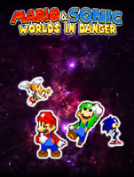 Mario and Sonic Worlds In Danger - Heroes Poster by xXBrawlStudiosXx