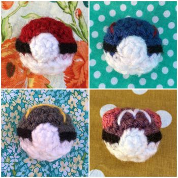 Wearable Pokeballs by TheArtisansNook