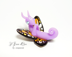 Butterfly baby dragon lilac orange by rosepeonie