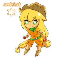 MLP Mane six - Applejack~! by Vitele37