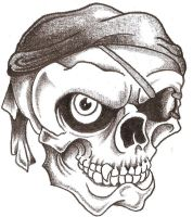 Pirate Skull by TheLob