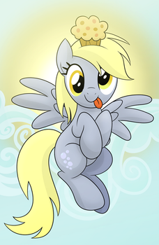 Derpy Muffin Finished by artwork-tee