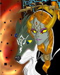 Midna and Link -SPOILER- by oreana