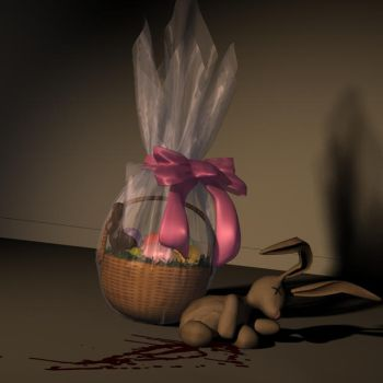 Bad day for teh Easter Bunny by Houri-Durga