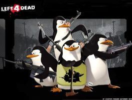 Penguins Left for Dead by tonatello
