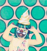 Ice Cream Clown Baby by AbsurdWordPreferred