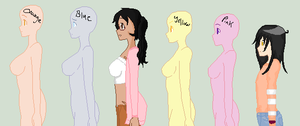 Pretty Girl Pretty Girl Line up Collab .:My part:. by Lolita64