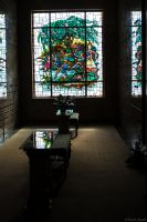 Woodland Cemetary Mausoleum Stained Glass by PLutonius