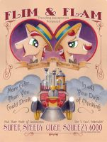 Flim and Flam from new MLP Poster Book by andypriceart