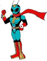 KRS: Masked Rider UFO by Heckfire