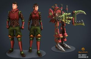 Fantasy workers and cargo exosuit by Gekkogwn