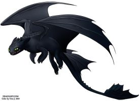 Night Fury - Toothless by uros3D