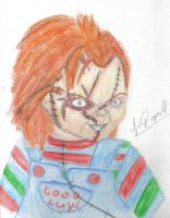 Chucky in water color by Laquyn