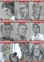 Star Wars 30 sketch cards pt3 by gattadonna