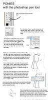 PS pony line pen tutorial by zomgitsalaura