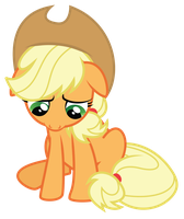 Sad Applejack by Midnight--Blitz