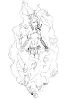 Gas Cloud Lineart by TashOToole