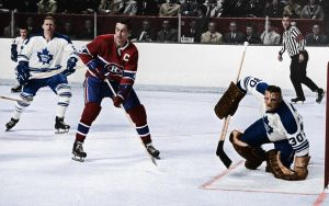 1967 colorization Leafs @ Canadiens by bbboz