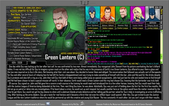 [Earth-27: Oracle Files] Guy Gardner (2/2) by Roysovitch