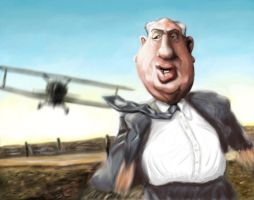 Alfred Hitchcock Caricature by DoodleArtStudios