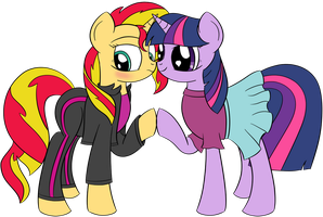 Sunlight (Sunset Shimmer X Twilight Sparkle) by DataPony