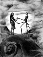 Nightmare before christmas - Jack y Sally by reniervivas666