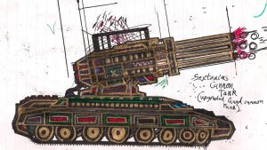 Gen. M. Deathstrike's Sextanias Cannon Tank by Lord-DracoDraconis