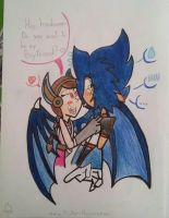 Ludwig and the little girl...???  by Painter-Huanca