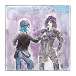 C - Chloe and Caius by Tiruze