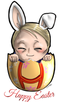 Chibi Hannibal - Happy Easter 2015 by FuriarossaAndMimma