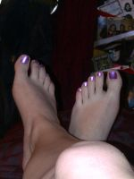 Toes are done. Yay by KMKramer44