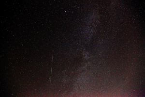 Milky Way with Shooting Star by 3window34