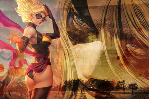 Ms Marvel wallpaper v2 by DartsOFFPleasure