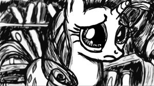 Rarity Sad Face by Lethal-Doorknob