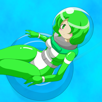 A girl in diving suit 2 by Nekomi4