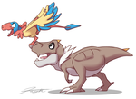 Tyrunt and Archen for Kourukon by DJCoulz