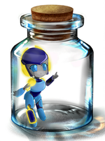 Chibi-Noice in a bottle by Aenna-san