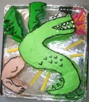 Edible Trogdor by Lithium-Toxide