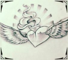 heart with wings by GeertY