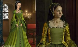 Anne Boleyn Green Gown by msbrit90