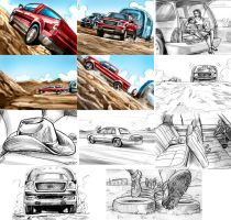 Traditional style storyboard by chrisscalf