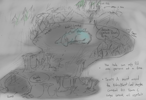 doREM - Giant Ice Lizard Thing Sketch Lair by Lilblkrose