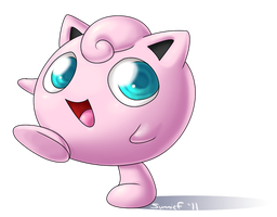 Happy Little Jigglypuff by SunnieF